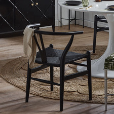 Black Hans Wegner Replica Wishbone Chairs (Set of 2)