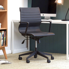 Black Management Faux Leather Office Chair
