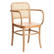 Hoffmann Replica Beech Wood & Rattan Dining Armchair