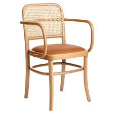 Natural & Tan Hoffmann Replica Dining Armchair