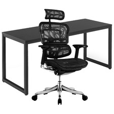2 Piece 160cm Axel Office Desk & Ergohuman Plus Elite V2 Mesh Chair Set
