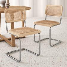 Marcel Breuer Cesca Replica Cantilever Dining Chairs (Set of 2)