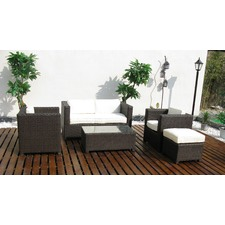 Half Moon Bay 5 Piece Rattan Outdoor Sofa Set