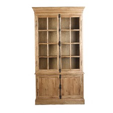 Industrial Loft Oak Bookcase With Doors
