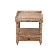 French Country One Drawer Bedside Table With Pull Out Shelf