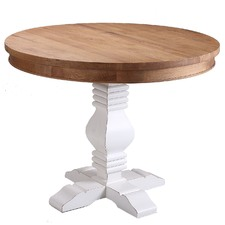 Izzie Round Oak Dining Table