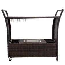 Cairns PE Wicker Bar Cart