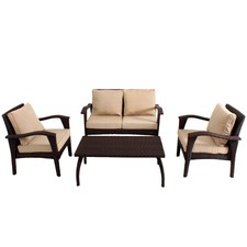 Honolulu 4 Piece Outdoor PE Wicker Sofa Set