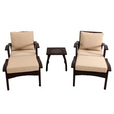 Honolulu 5 Piece Outdoor PE Wicker Chat Set