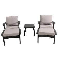 Manly 5 Piece Outdoor PE Wicker Lounge Set