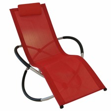 Avalon Aluminium & Mesh Folding Rocking Lounger