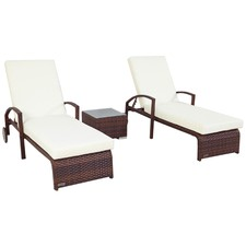 3 Piece PE Rattan Lounge Set