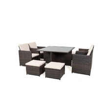 8 Seater Outdoor Dining Cube Set