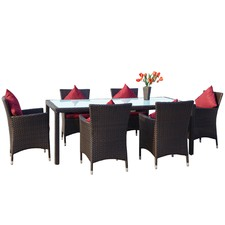 6 Seater Outdoor Dining Table Set
