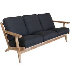 Classic Leisure 3 Seater Solid Oak Sofa