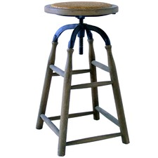 Benson Solid Oak Adjustable Barstool