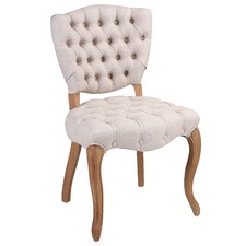 Amalie Buttoned Fabric Accent Chair