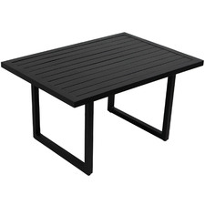 Black Randgris Outdoor Aluminium Coffee Table