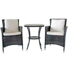2 Seater Polina PE Rattan Outdoor Lounge Set