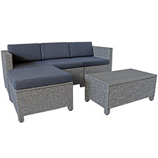 4 Seater Faron PE Rattan Outdoor Sofa Set
