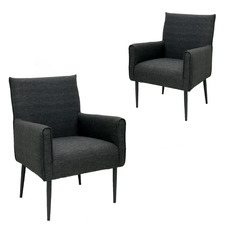 Black Brock Outdoor Armchairs (Set of 2)