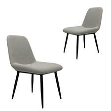 Light Grey Oswald Outdoor Dining Chairs (Set of 2)