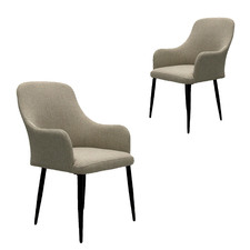 Beige Rinald Outdoor Armchairs (Set of 2)