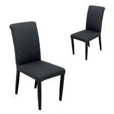 Black Sindri Outdoor Dining Chairs (Set of 2)