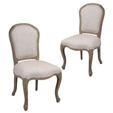 Natural Este Linen Dining Chair (Set of 2)
