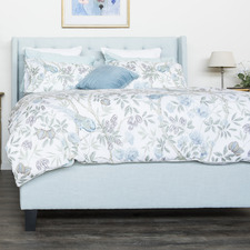 Light Blue Sylvain Upholstered Bed Frame