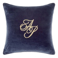 Navy Monogram Cushion