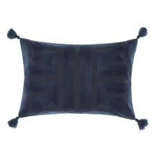 Navy Geisha Rectangle Cushion