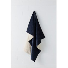 Navy Kew Quilted Throw