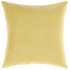 Fraction Yellow Euro Pillow Case