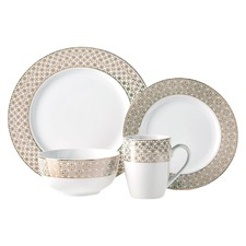 16 Piece Gold Dolce Dinner Set