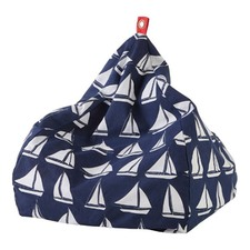 Oceanic Small Navy Bean Bag Cover