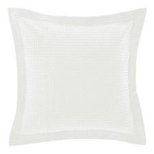 Deluxe Waffle White Euro Pillowcase