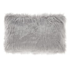 Grey Lark Faux Fur Breakfast Cushion