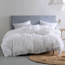 White Fergus Cotton Quilt Cover Set