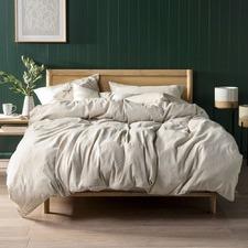 Natural Nimes Linen Quilt Cover Set