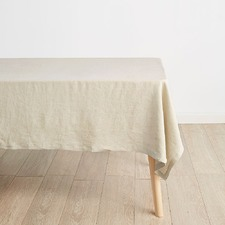 Natural Nimes Linen Tablecloth