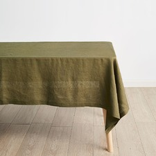 Olive Nimes Linen Tablecloth