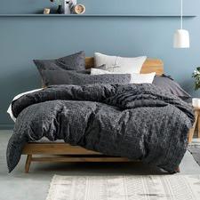 Charcoal Fergus Cotton Quilt Cover Set