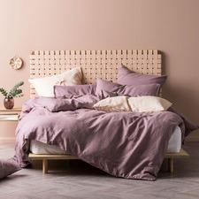 Elderberry Nimes Linen Quilt Cover Set