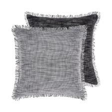 Black Albers Cotton Cushion