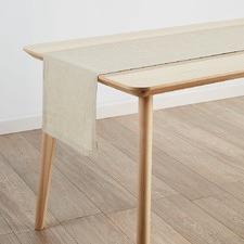 Natural Nimes Linen Table Runner