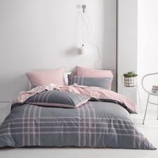 Pink Cason Cotton Quilt Cover Set