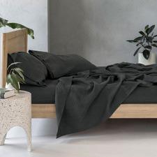 Charcoal Nimes Linen Sheet Set