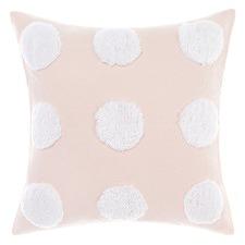 Pink & White Haze Cotton Cushion