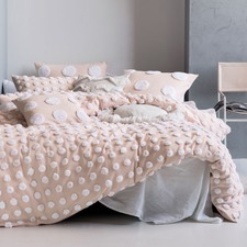 Pink & White Haze Cotton Quilt Cover Set